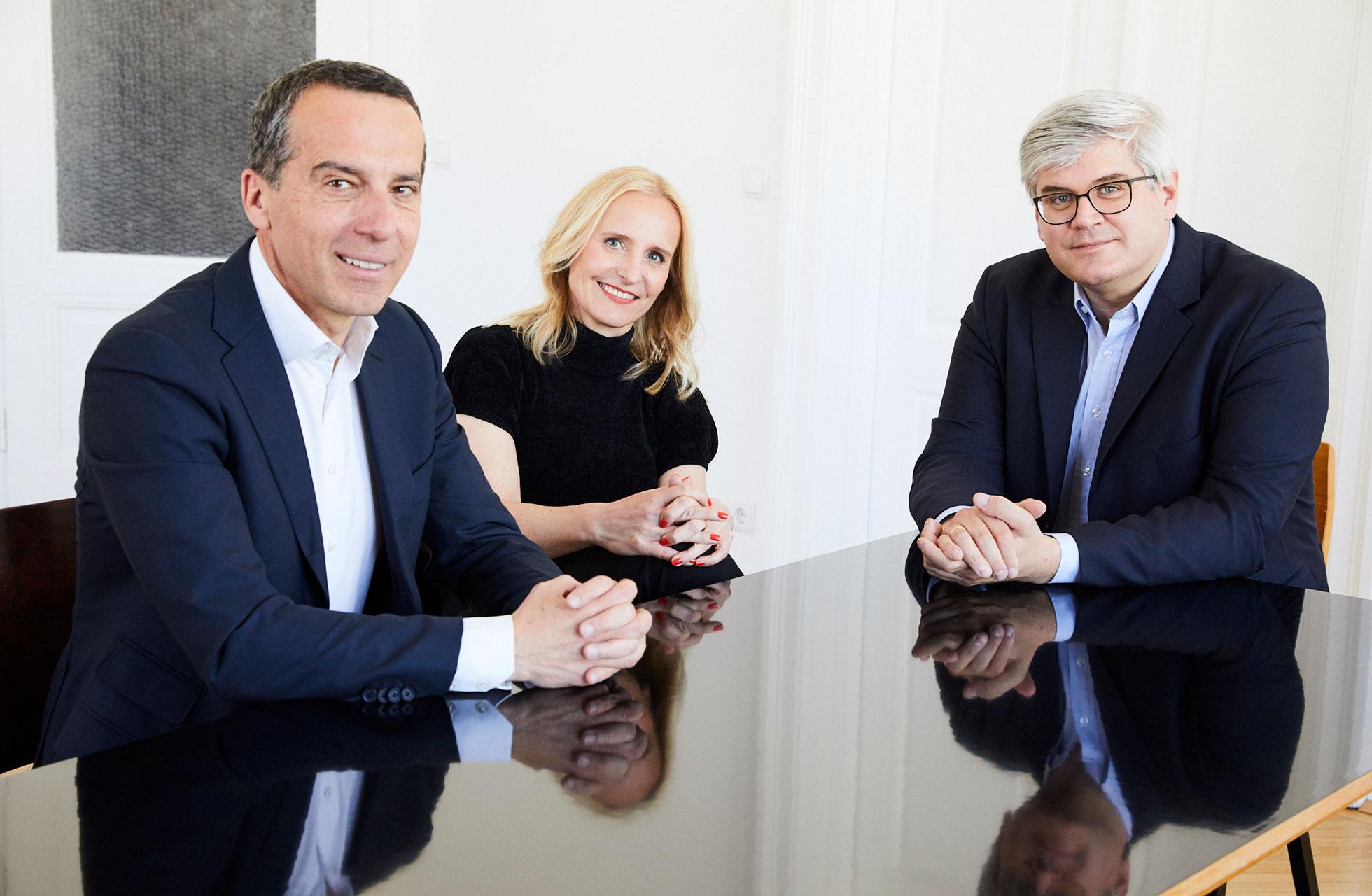 Christian Kern, Eveline Steinberger-Kern, Bernhard Raberger