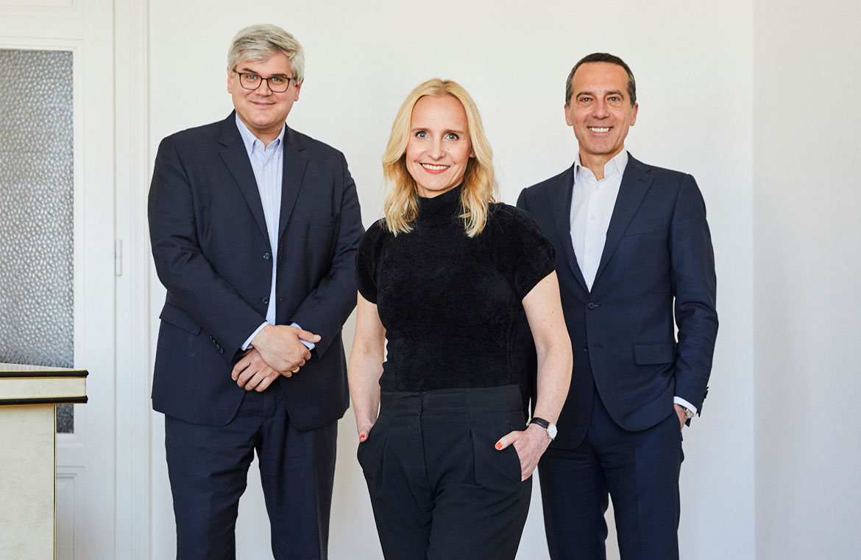 Bernhard Raberger, Eveline Steinberger-Kern, Christian Kern